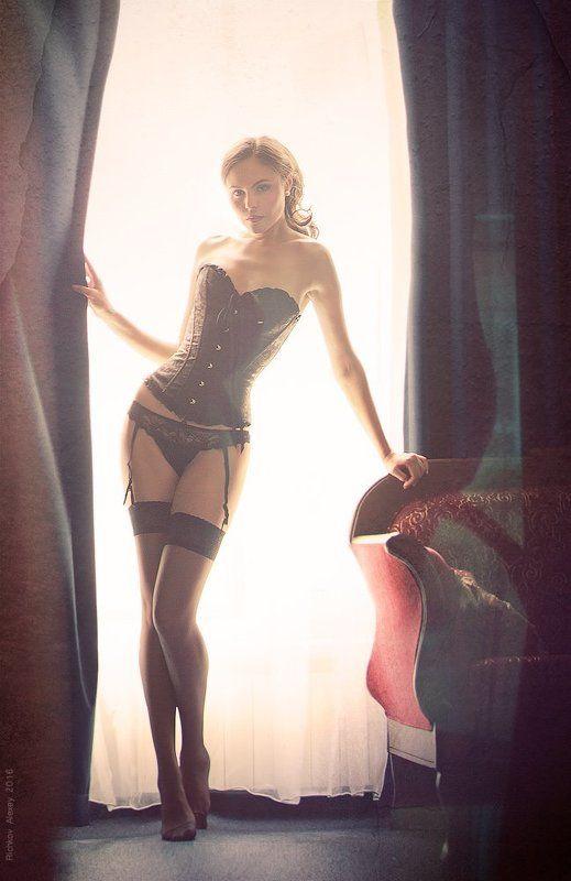 девушка, красота, изящество, белье, чулки, корсет, girl, Соблазнphoto preview