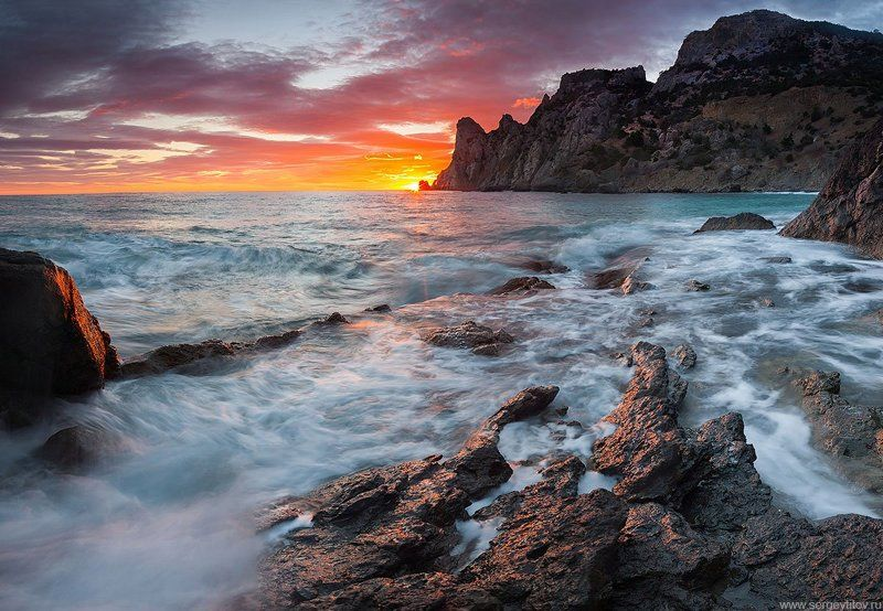 крым, судак, море, пляж, волна, скала, караул-оба, царский пляж, капчик, мыс, бухта, залив, лагуна Новый Светphoto preview