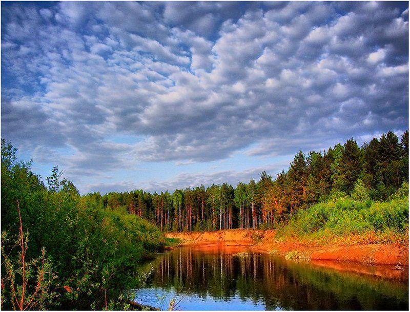 пейзаж,небо,река,лес,удмуртия Наша речкаphoto preview