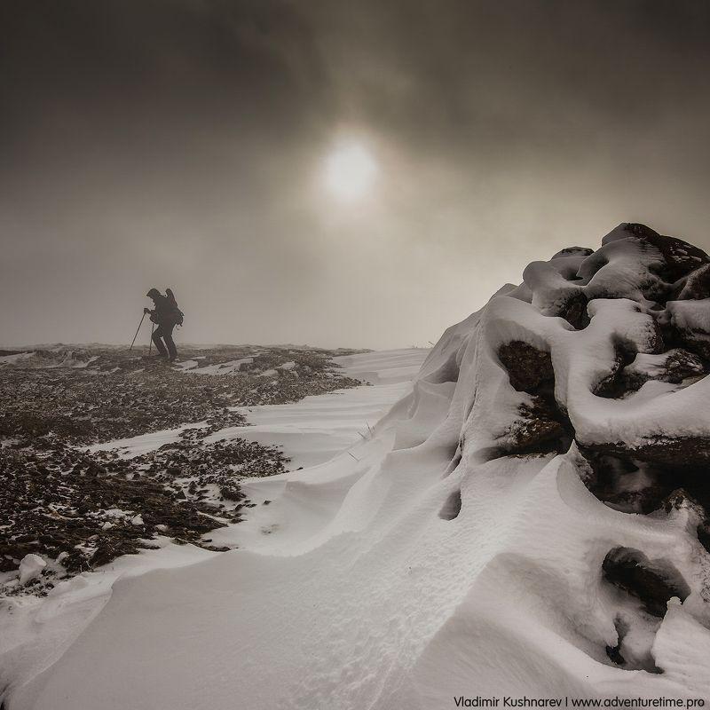 пейзаж, крым, рассвет, солнце, снег, шторм, горы Первый Снег В Крымуphoto preview