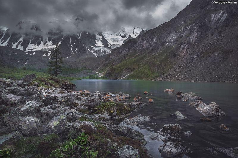 алтай, облака , горное озеро, горный алтай, небо , озеро, пейзаж , горы , Верхнее Шавлинское озероphoto preview