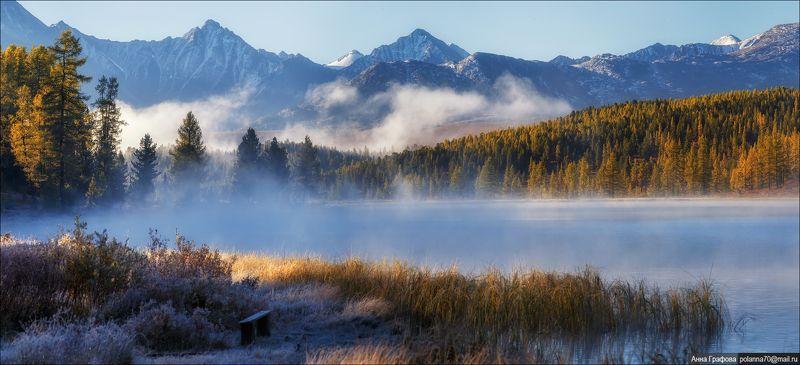 алтай, горы, горный алтай, улаган, киделю, осень, утро, аня графова Безмятежность туманного утра ...photo preview