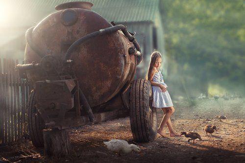 Girl in the village