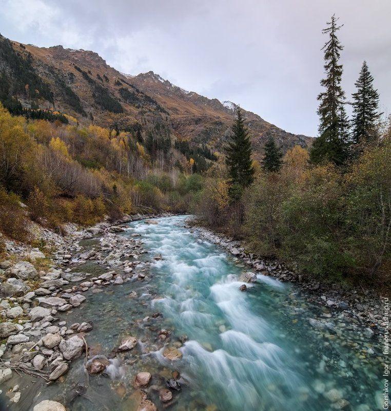 бирюзовый, вода, гоначхир, горная река, кавказ, камни, осень, пейзаж, пороги, природа, река, скалы Бирюзовая вода Гоначхираphoto preview