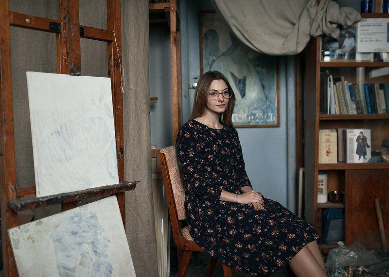 портрет девушки, девушка, портфолио, мастерская, художник, никон, 35mm, sigma, nikon d700, portrait, girl, painter photo preview