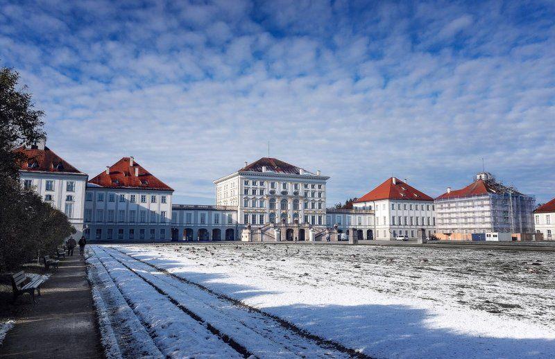 germany, munich, bayern, nymphenburgpalace, winter, landscape photo preview