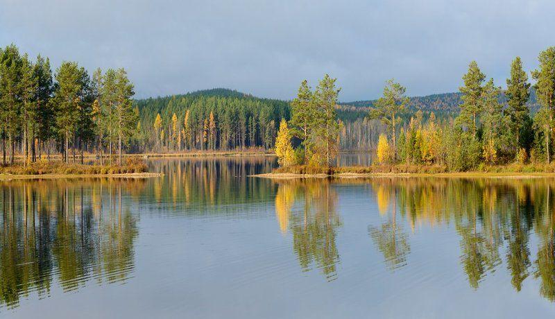 осень вода лес отражения туча Осень 2016.photo preview