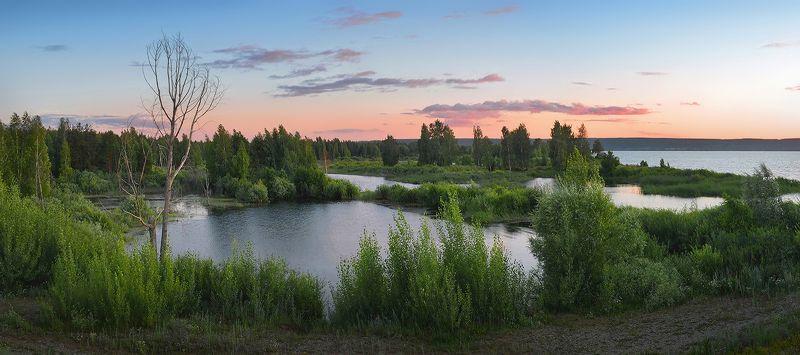 нижняя кама, ветер, холодный вечер, небо, простор, озеро, июль Холодный ветерphoto preview