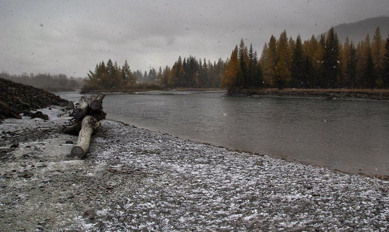 Первый снег...photo preview