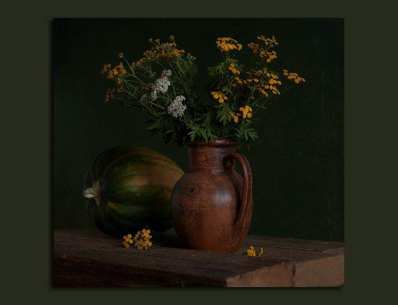 осень, ноябрь, пижма, тысячелистник Ноябрь из моего сада.../из этюдника осени/photo preview