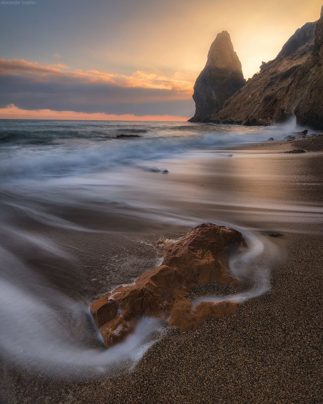 крым, балаклава, закат, осень, фиолент Sea of novemberphoto preview