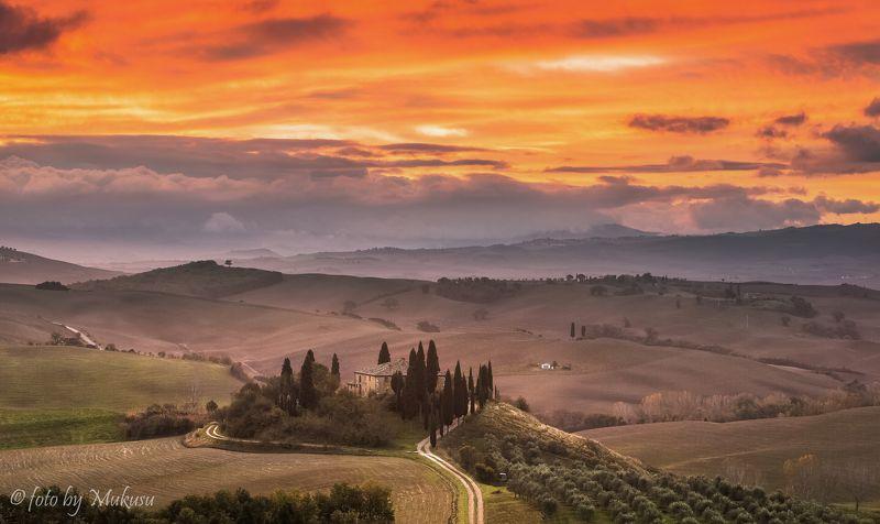 landscape. toscana. тоскана, италия, пейзаж, путешествия villa Belvedere. Toscanaphoto preview