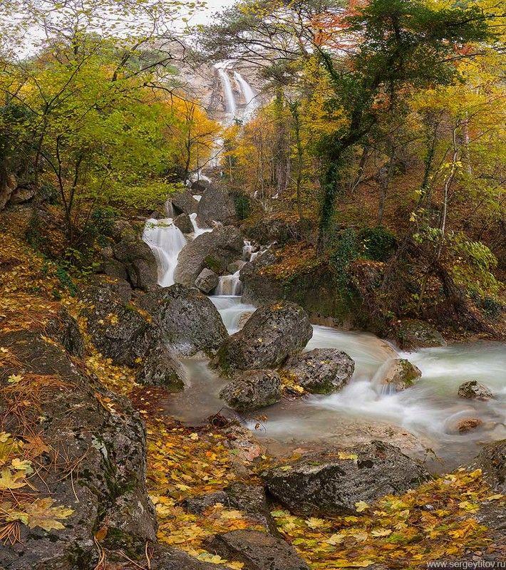 крым, ялта, осень, лес, туман, дерево, листья, фотограф крым, фотограф ялта, пейзажи крыма, осень в крыму, водопад, учан-су Водопад Учан-Суphoto preview