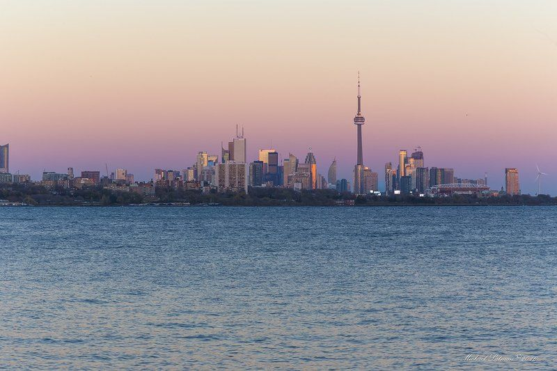 toronto, fall, city, supermoon,evenung, sunset Toronto.November.photo preview