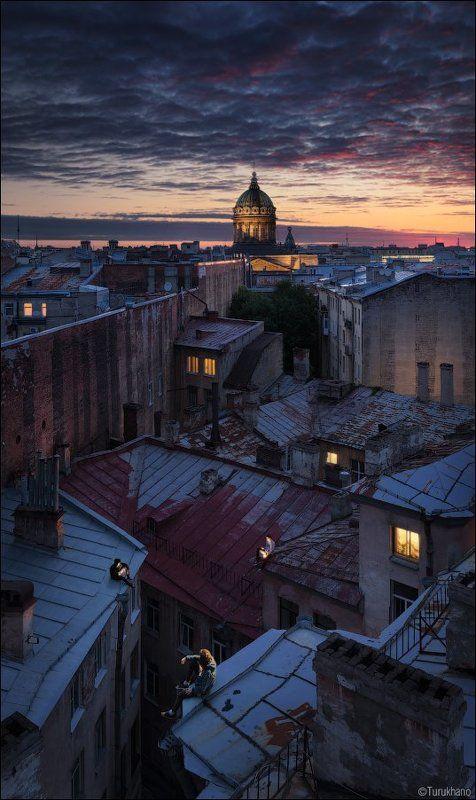 Санкт-Петербург, Крыши Ангелы XXI векаphoto preview