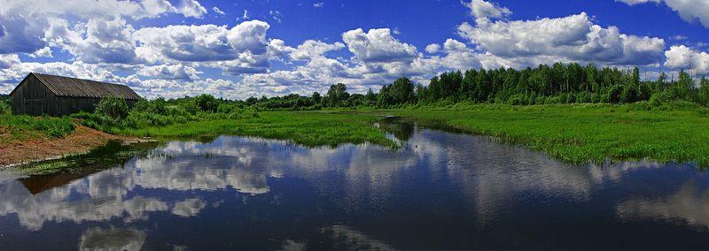 пейзаж,панорама,дето,удмуртия В июньский полденьphoto preview