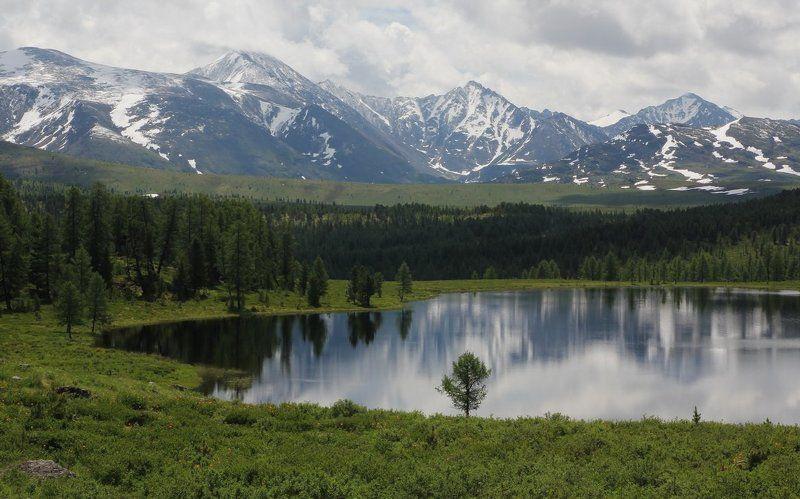 горный алтай,улаган,озеро,горы,лето,алтай,олег кулаков На Улаганском перевале.Озеро.photo preview