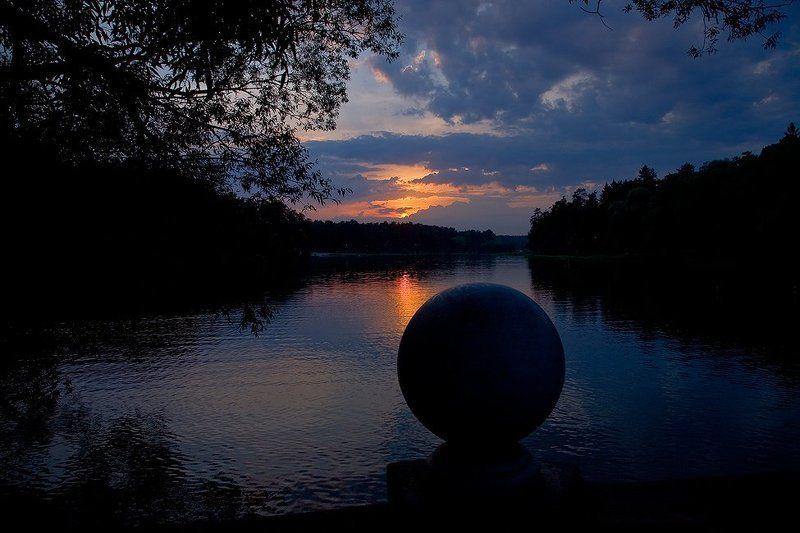 озеро, закат, тишина Закат в Кратово...photo preview