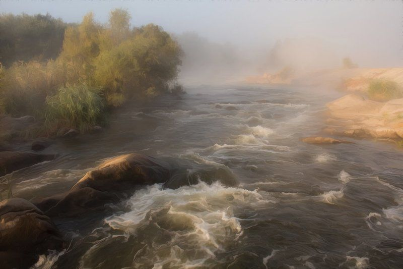 река. осень. пороги. Мигеевские пороги.photo preview