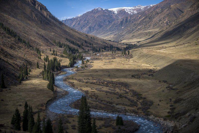 казахстан, горы, заилийский алатау, кунгей-алатоо, река, чилик, шелек, долина, осень, григорий беденко, grigoriy bedenko, Долина реки Чиликphoto preview