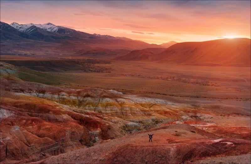 алтай, марс, кызыл-чин, кызыл-шин, schiaparelli, горы, россия, осень, чуйская степь, чаган-узун Раскаленная земляphoto preview