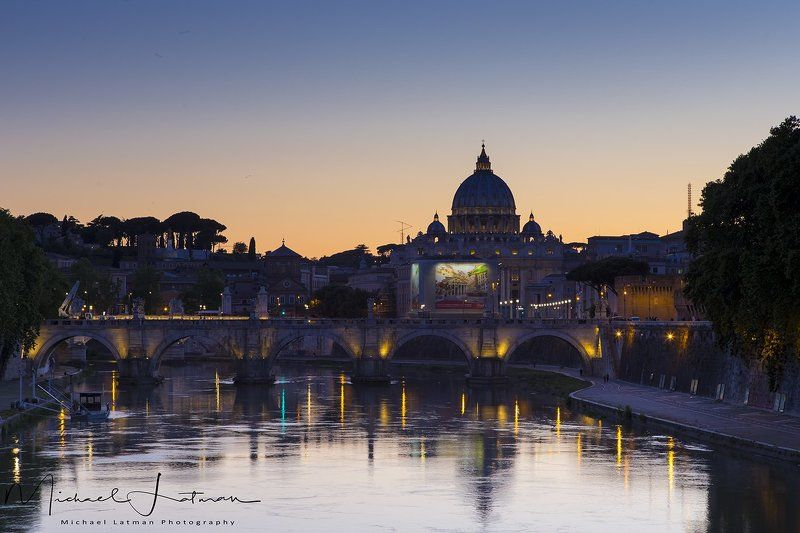 city, rome, spring, Rome. Evening.photo preview