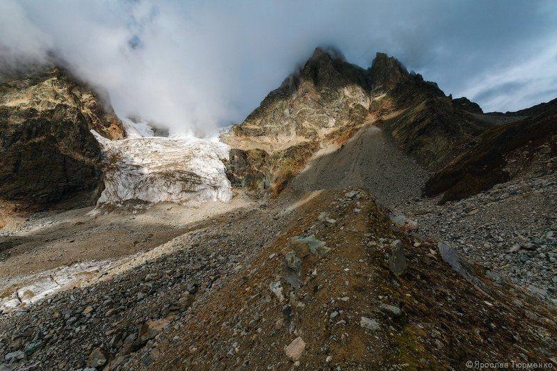 Грузия,Сванетия, Ушба Ледник у подножия Ушбы...photo preview