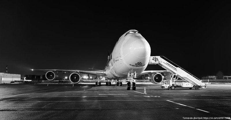 Боинг 747, Самолет, Споттинг, Толмачев Дмитрий, Толмачево Боинг 747photo preview