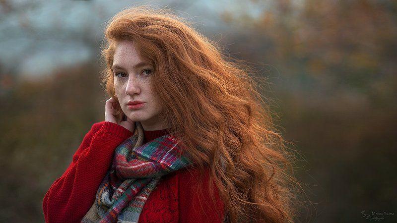 Веснушки, Мария йылмаз, Настроение, Никон д610, Одиночество, Осенние листья, Осень, Рыжая, Рыжие волосы, Цвет стамбульский декабрь...photo preview