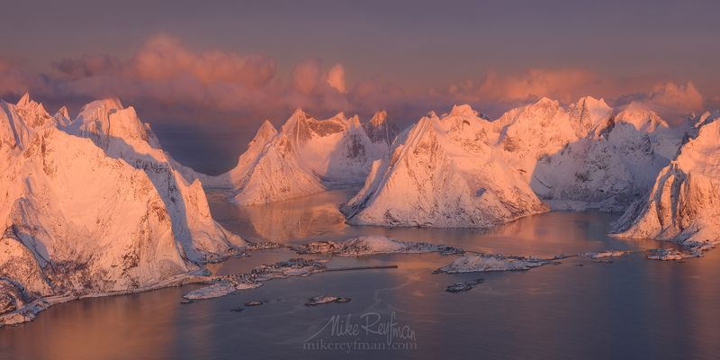 nature, snow, winter, photography, sky, mountain, norway, horizontal, frozen, outdoors, lofoten, color image, mountain range, scenic, tranquility, cold temperature, snow-capped mountainс, cloud - sky, aerial Пробуждениеphoto preview