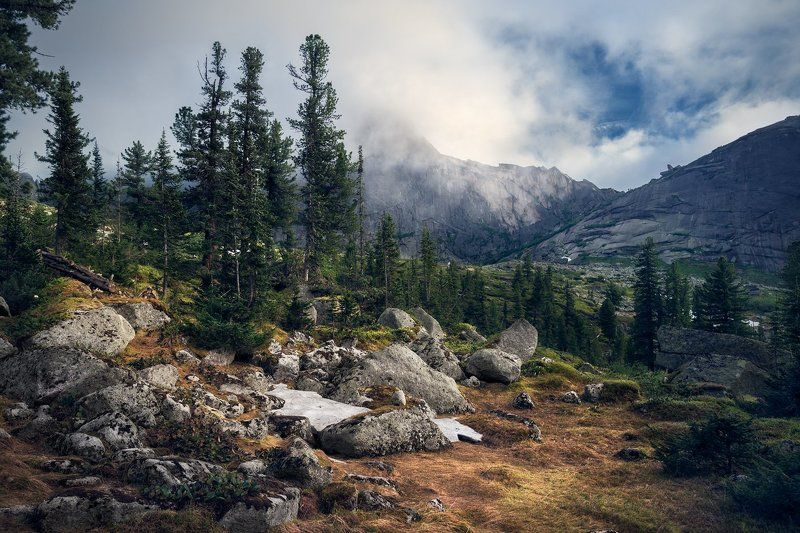 пейзаж, природа, горы, хребет, ергаки, парк, красноярский край, сибирь, перевал, камни, полянка, высокий, большой, красивая, снег, холодный, чистый У спящего Саянаphoto preview