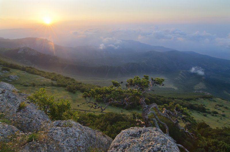 Крым, Южная Демерджи рассвет на Демерджиphoto preview