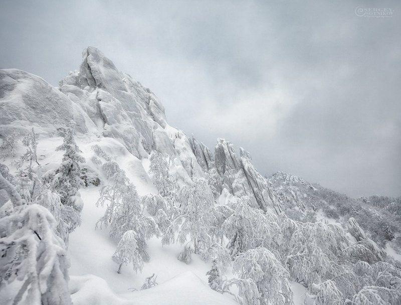зима таганай двуглавая сопка ***photo preview