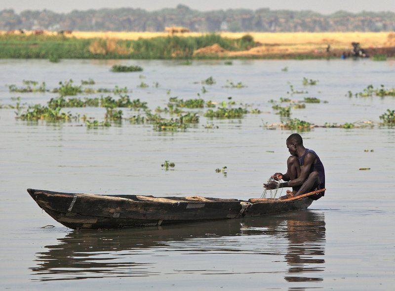 нил, рыбак, лодка, река, рыбалка На Нилеphoto preview
