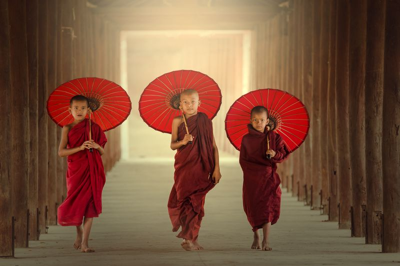 buddha,buddhism,Buddhist,Boys,portrait, Novice monksphoto preview