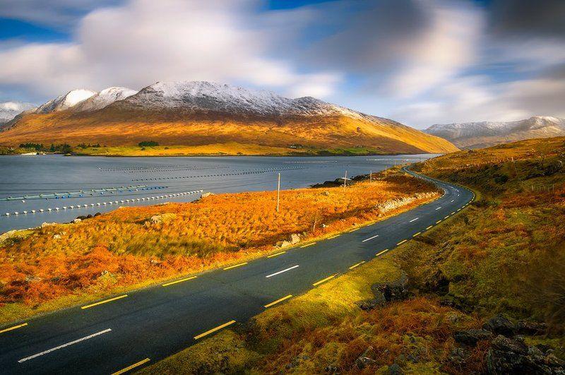 ireland, fjords, landscape,road, winter, snow, long exposure,  Fjords of Irelandphoto preview