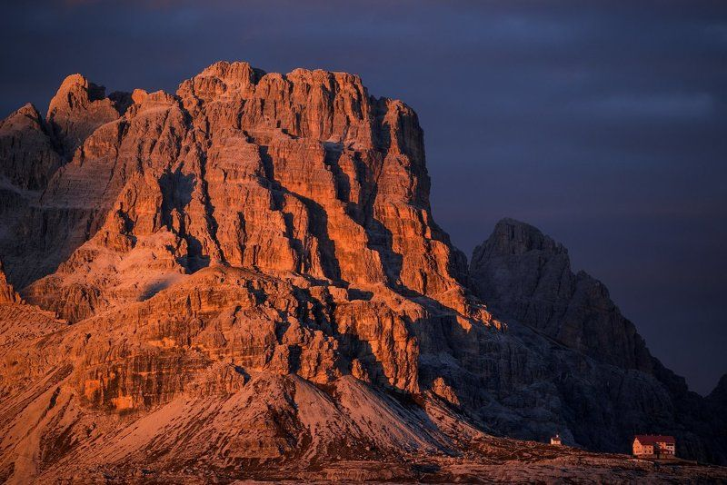 Italy, Dolomites, Alps, Tre Cimme, Tre Cime di Lavaredo, sunset, travel, Europe, beautiful, beautiful place, south tyrol The last rays in Dolomitesphoto preview