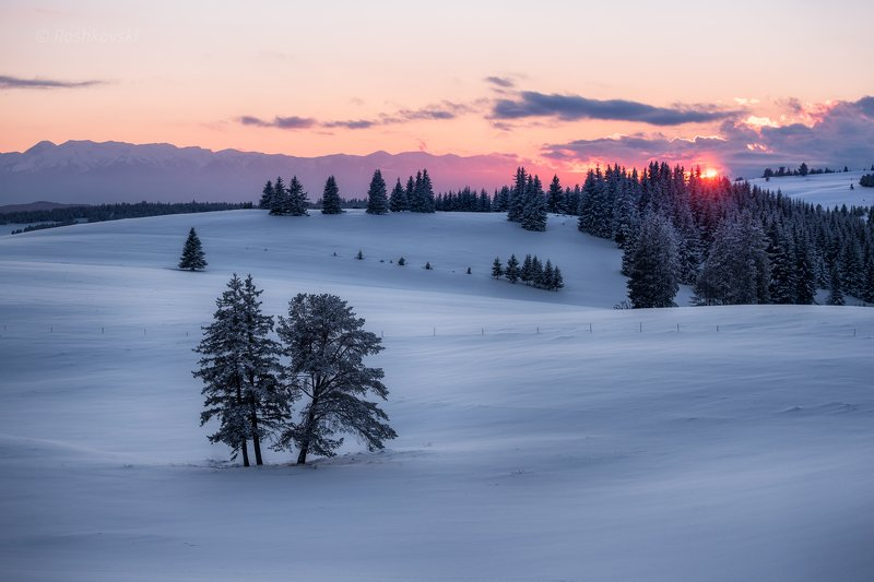 Winter sunsetphoto preview