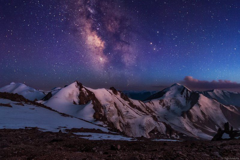 горы, ночное небо, млечный путь, заилийский алатау Летняя ночь в горахphoto preview