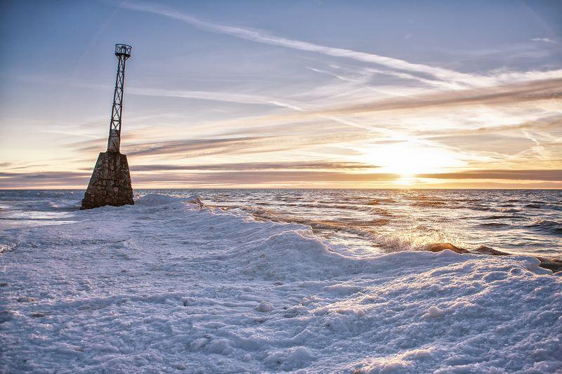 маяк море закат Kurmrags bakaphoto preview