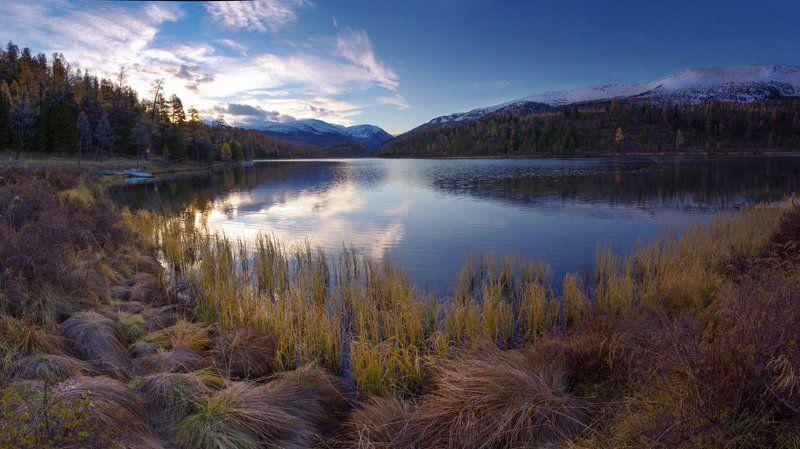 алтай утро озеро кок-кёль В рассветный часphoto preview