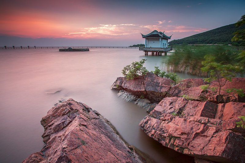 太湖 太湖日落photo preview