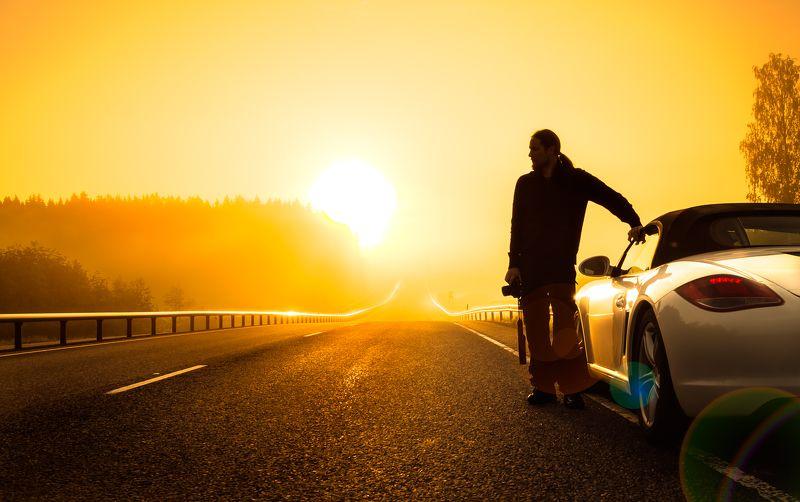 sunrise, porsche, finland, roadtrip Sunrise roadtripphoto preview