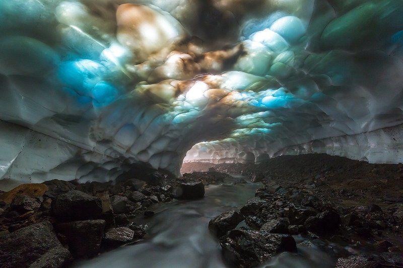 камчатка, пещера, лето, природа, путешествие, фототур, вулкан, Ледяной витражphoto preview