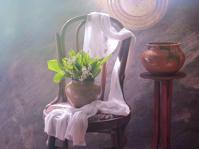 цветы,весна,ландыши,настроение, белый,чистый,шляпа,солнце Натюрморт с ландышамиphoto preview