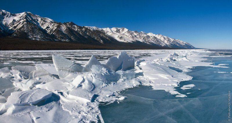 Байкал, лёд, горы, зима, Байкальский хребет, Заворотный, торосы Немного про байкальский лёдphoto preview