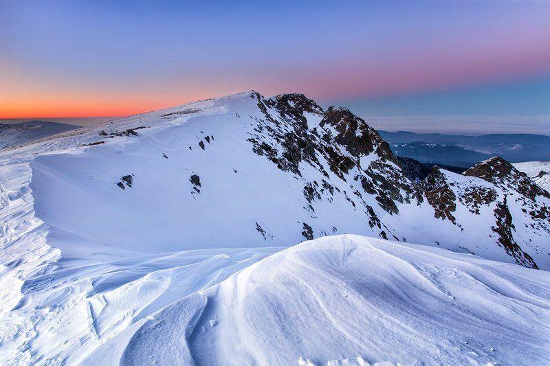 болгария, закат, горы Мальовицаphoto preview