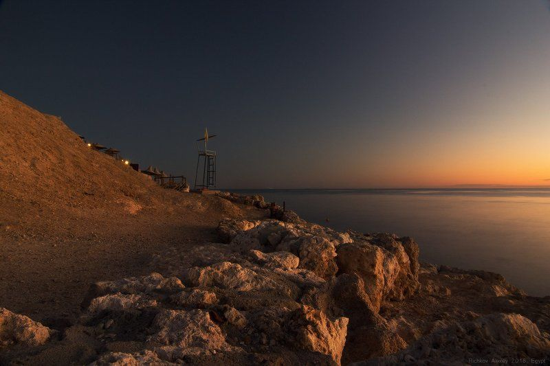 Египет, камни, свет, солнце, море, закат. вечер, берег,  Вечернее безмолвие Красного моряphoto preview