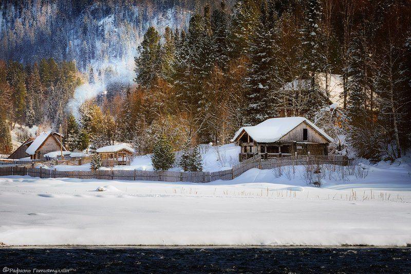 республика алтай, горный алтай, горы, телецкое, озеро, зима, иогач, артыбаш. Окрестности Иогача.photo preview