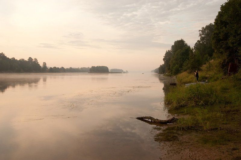река, вуокса, утро утро на Вуоксеphoto preview